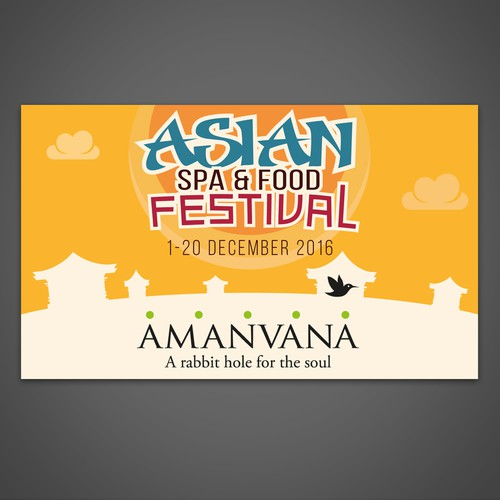 Billboard for Asian Spa & Food Festival