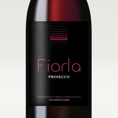 Modern, elegant wine label for italian sparkling wine Fiorla