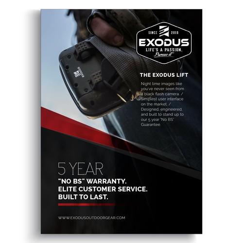 Flyer for Exodus Outdoor Gear