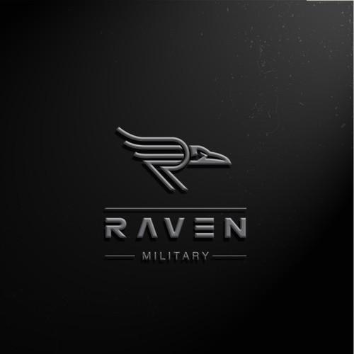 Bold raven logo