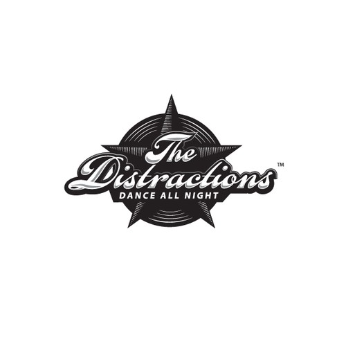 "Logo for Party Band ""The Distractions"""