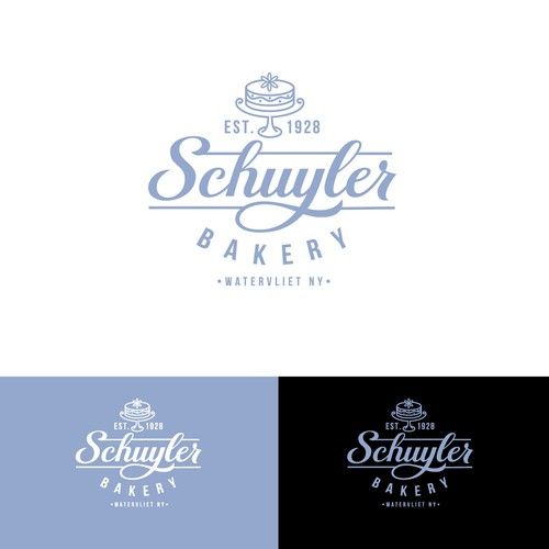 Custom script logotype for Bakery
