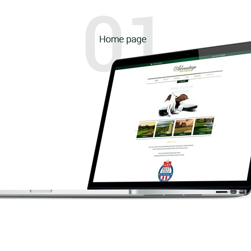 Home page redesign for Luxury Golf School