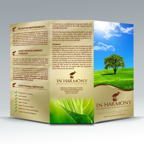 In Harmony needs a new brochure design