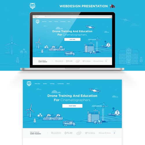 Drone Training Website Design