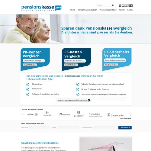 Excellent design for pension company