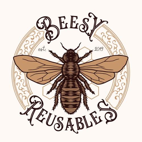 Vintage logo Bees