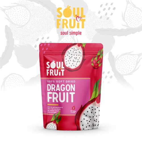 Dried Dragon Fruit Pouch Bag Design