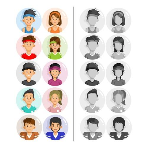 Sport avatar design