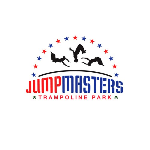 Logo for jumpmasters trampoline park