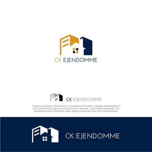 logo designed for CK Ejendomme Property Company