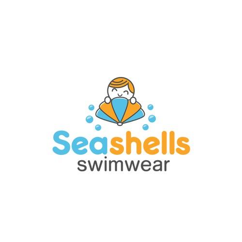 Logo design for children's swimwear.