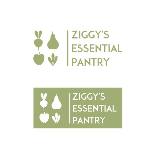 Create a logo for Ziggy's Essential Pantry reflecting our social engagement