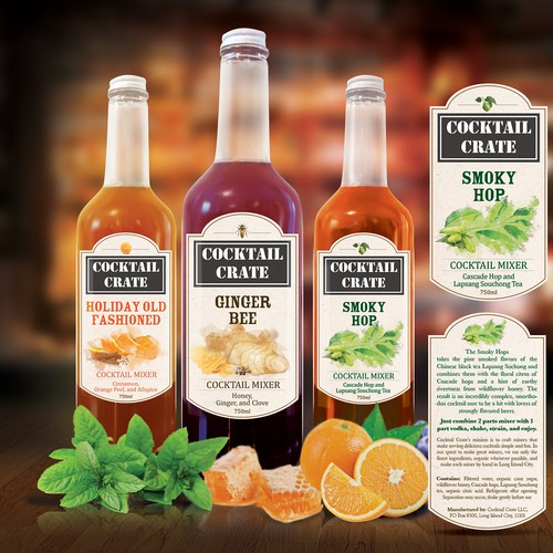 Product Labels for Cocktail Crate LLC