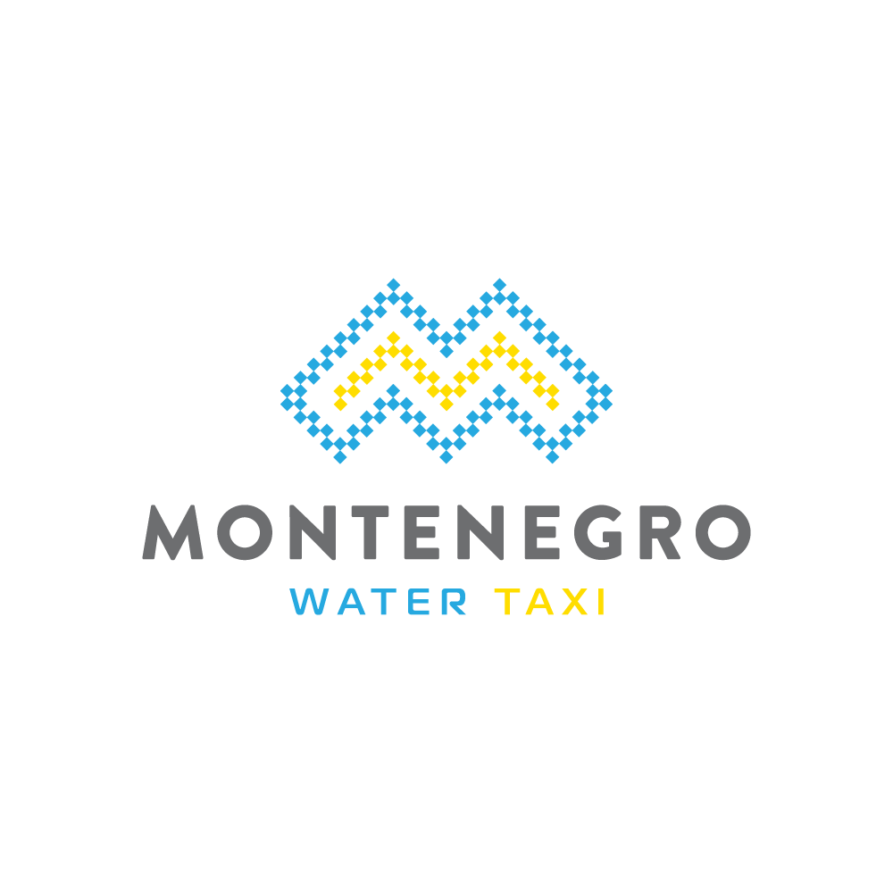 Ideal illustration is smart, edgy, clever, luxurious logo for MWT Montenegro Water Taxi service
