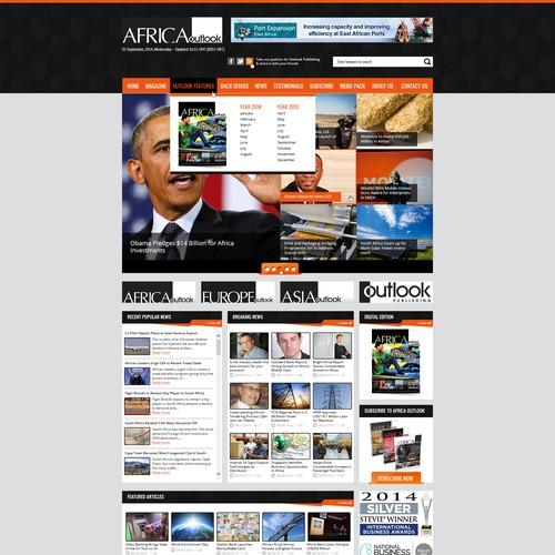 Redesign existing website of an award winning magazine