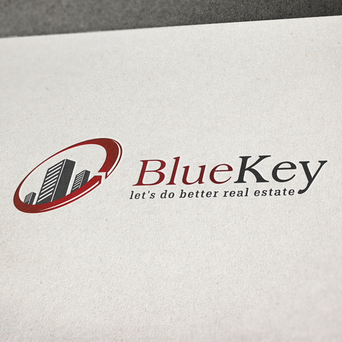 Real Estate Technology Based Logo for BlueKey