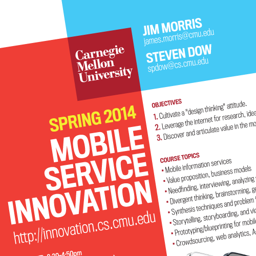 Design a poster for a mobile technology course at Carnegie Mellon University