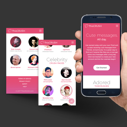New look for a Mobile Social Network website
