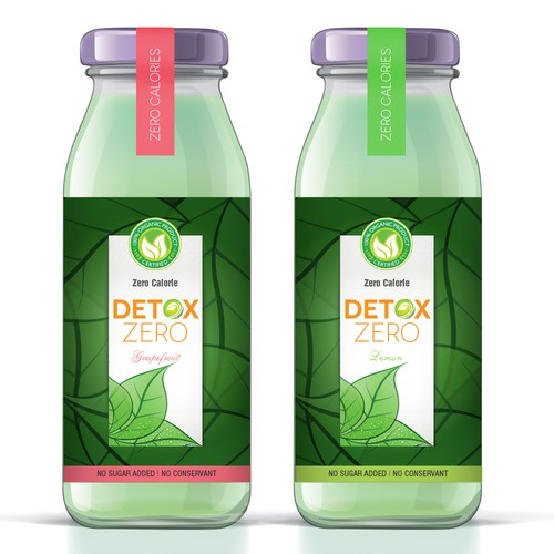 New Organic Detox beverage zero calorie for dynamic and creative designers