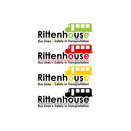 Rittenhouse Bus Lines Logo Design