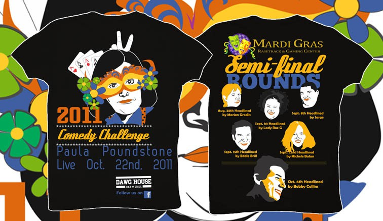 t-shirt design for Mardi Gras Casino and Racetrack