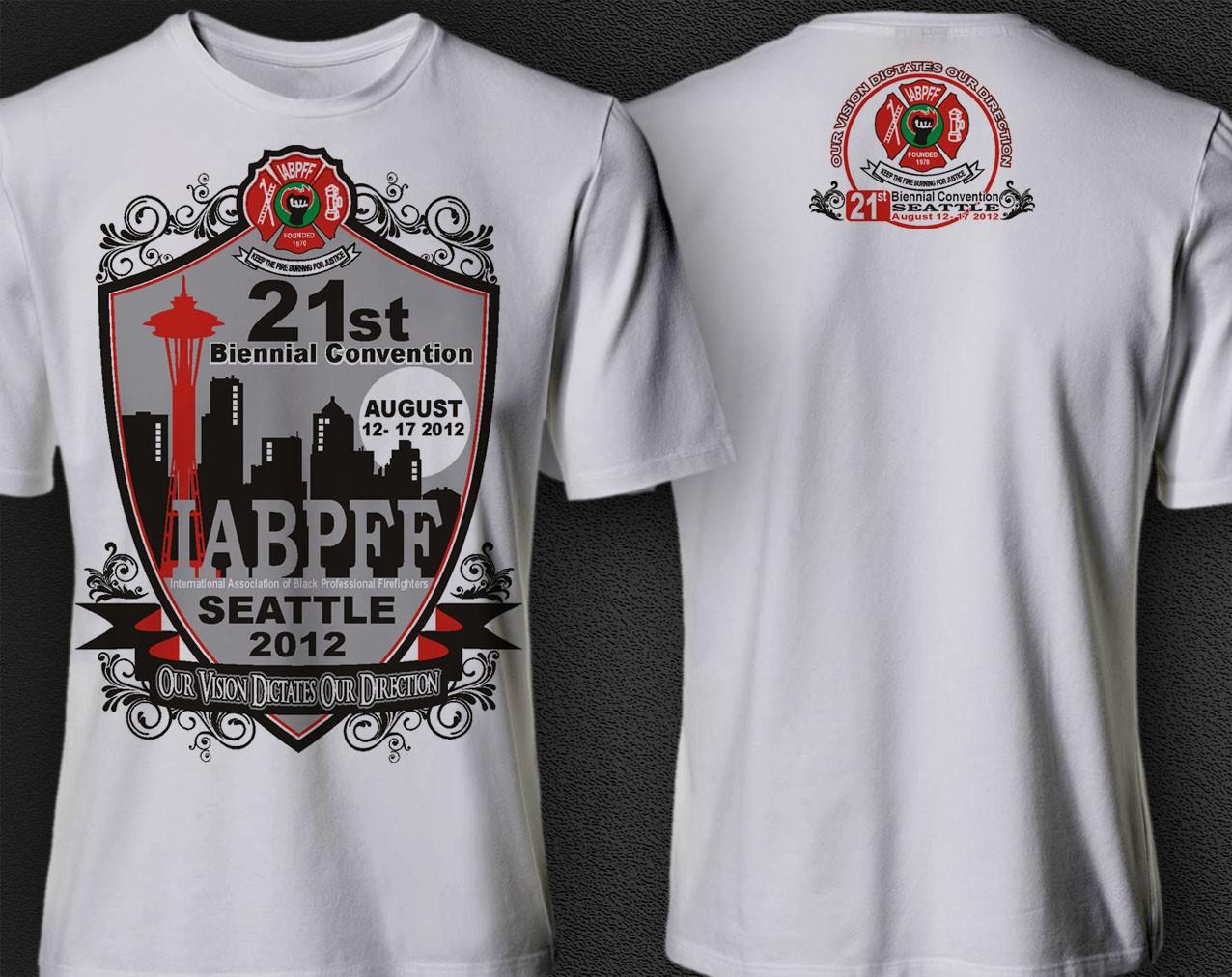 Create a winning t-shirt design for a  International  Black Fire Fighter Convention