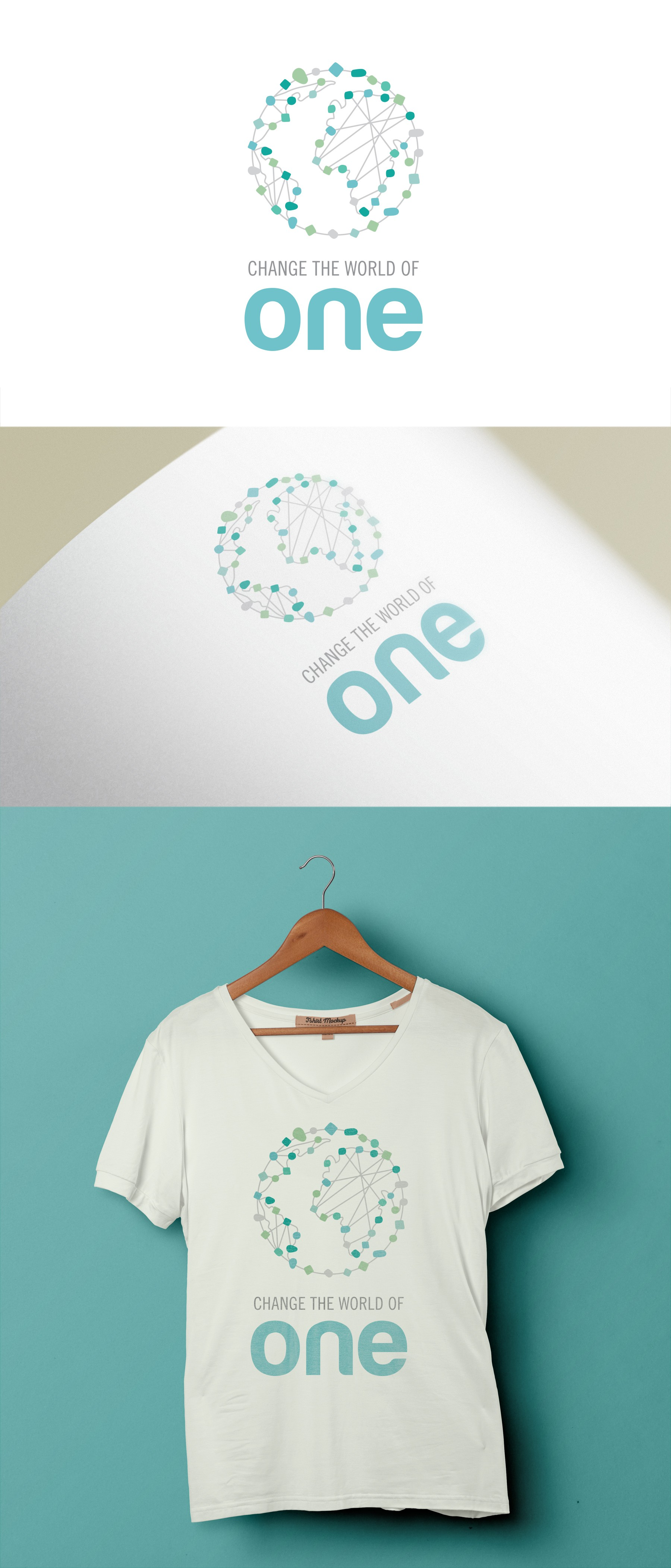 Create a design that will motivate people to change the world by connecting with and helping one person/animal at a time