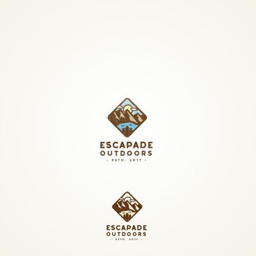 Logo concept for Escapade Outdoors