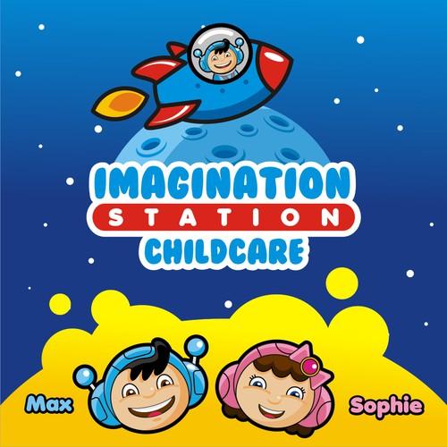 Fun Logo to Inspire Children to Reach Higher