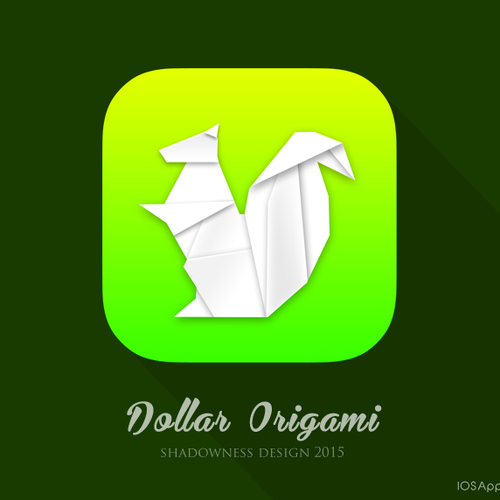 iPhone app icon for Dollar Origami - Learn how to fold money