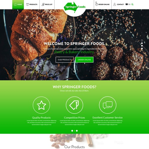 """""""Modern New Web Design for Wholesale Foodservice Co"""""""