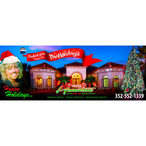 "Create Holiday Banner (8""x3"") For Real Estate Magazine Ad"