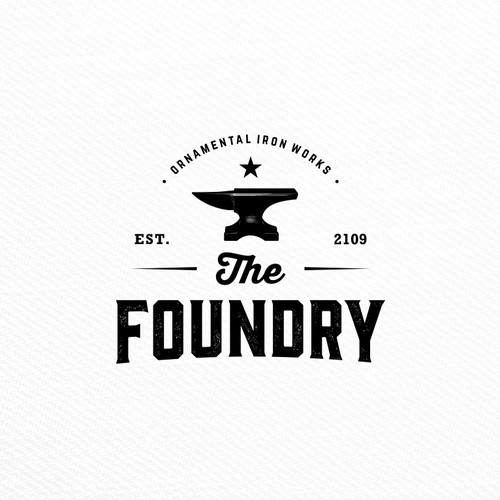 old school style logo for The Foundry