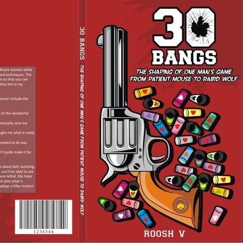 Create the next book or magazine cover for 30 Bangs