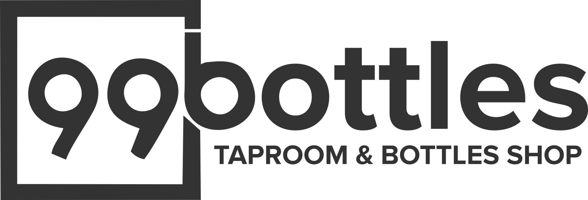 design a modern sophisticated yet hip logo for a bottle shop tap room with eats