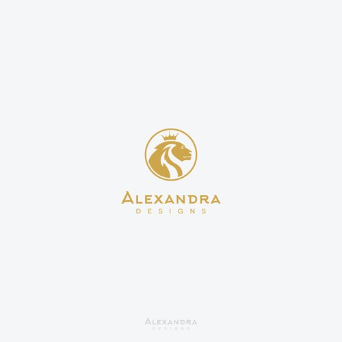 "Logo concept for ""Alexandra Designs"""