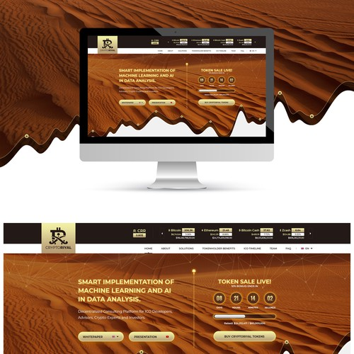 Cryptoriyal Web Page Design
