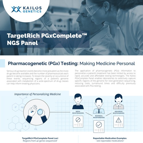 1-to-1 Project: Multi-page brochure with illustrations for Kailos Genetics