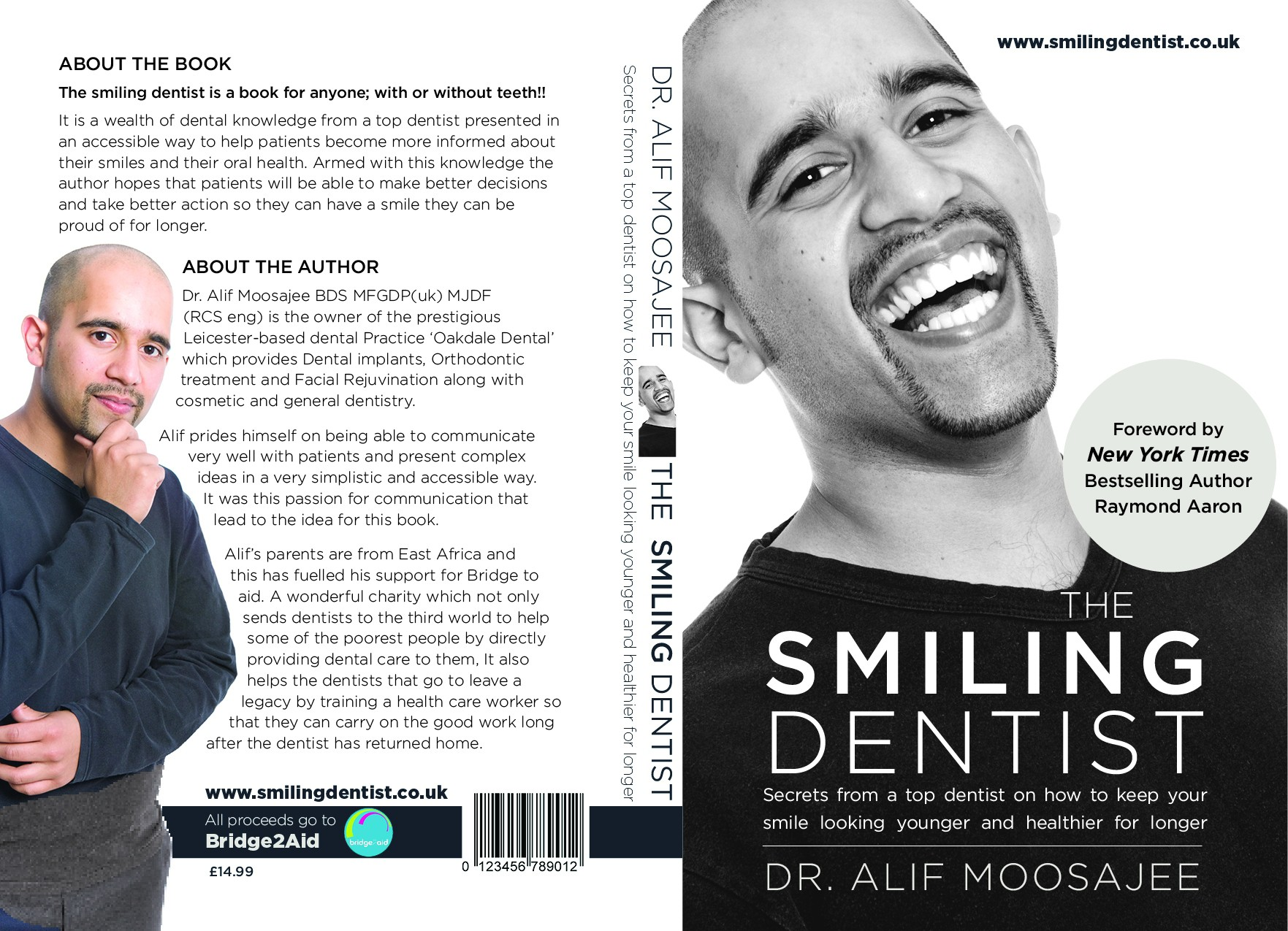 create a book cover for a smiling dentist