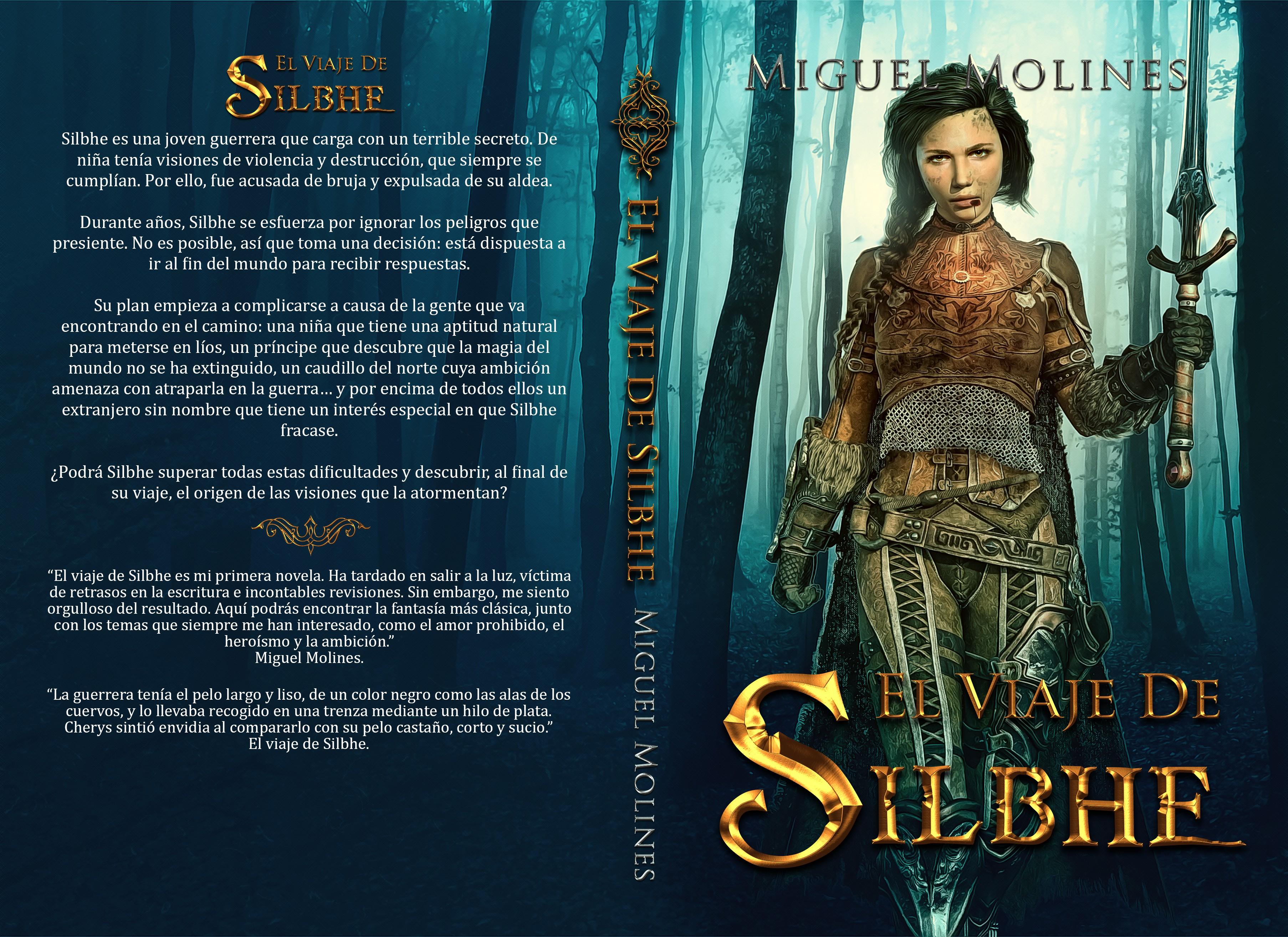 Design a cover (ebook and print) for a fantasy novel with a strong female hero, El viaje de Silbhe