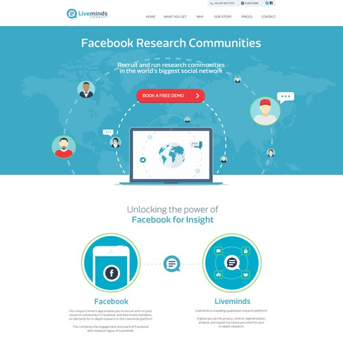 Design Single Page Website for Global Marketing Research Platform