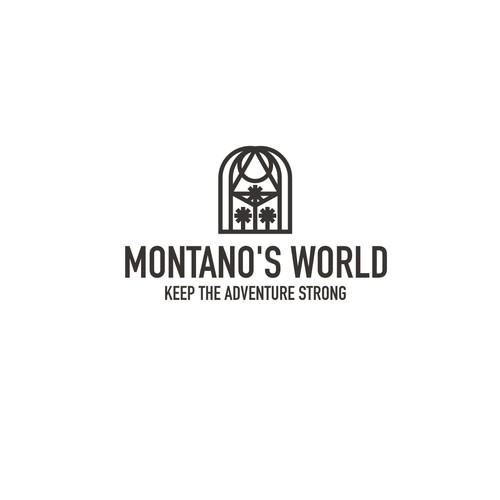 Bold line logo for Travel blog