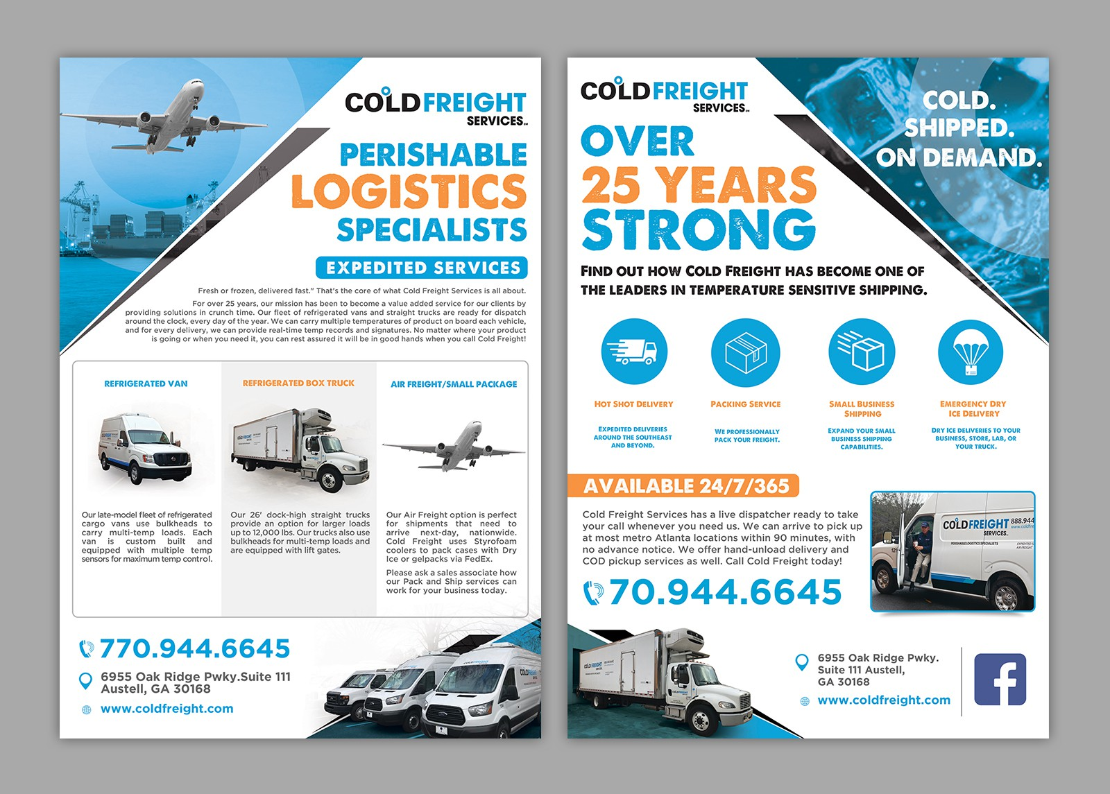 Cold Freight Services customer slicks