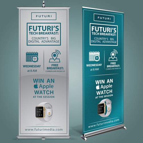 Conference stand-up banner
