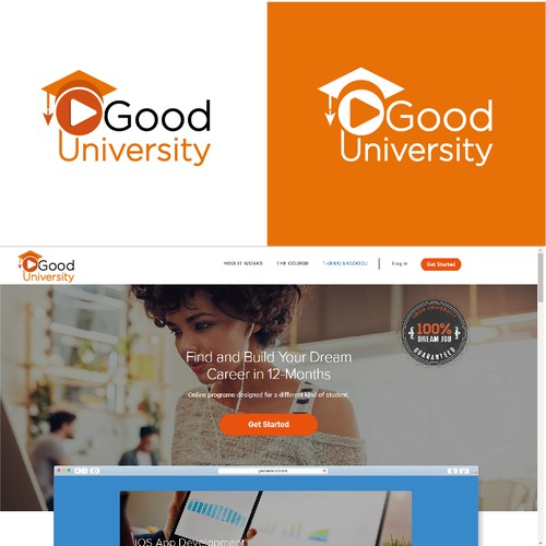 Logo for an E-Learning university