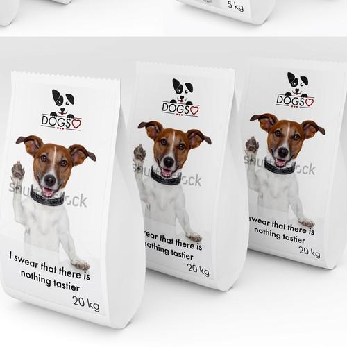 Dog's food label design