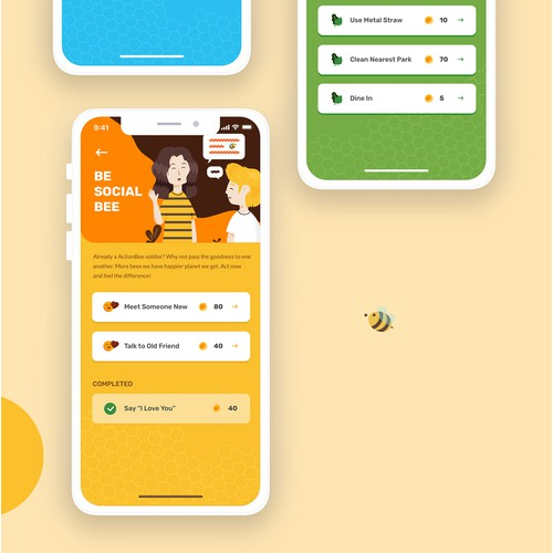 App design for ActionBee