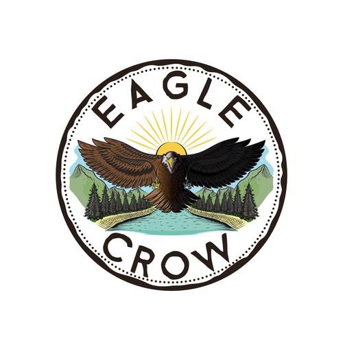 Eagle Crow Illustration
