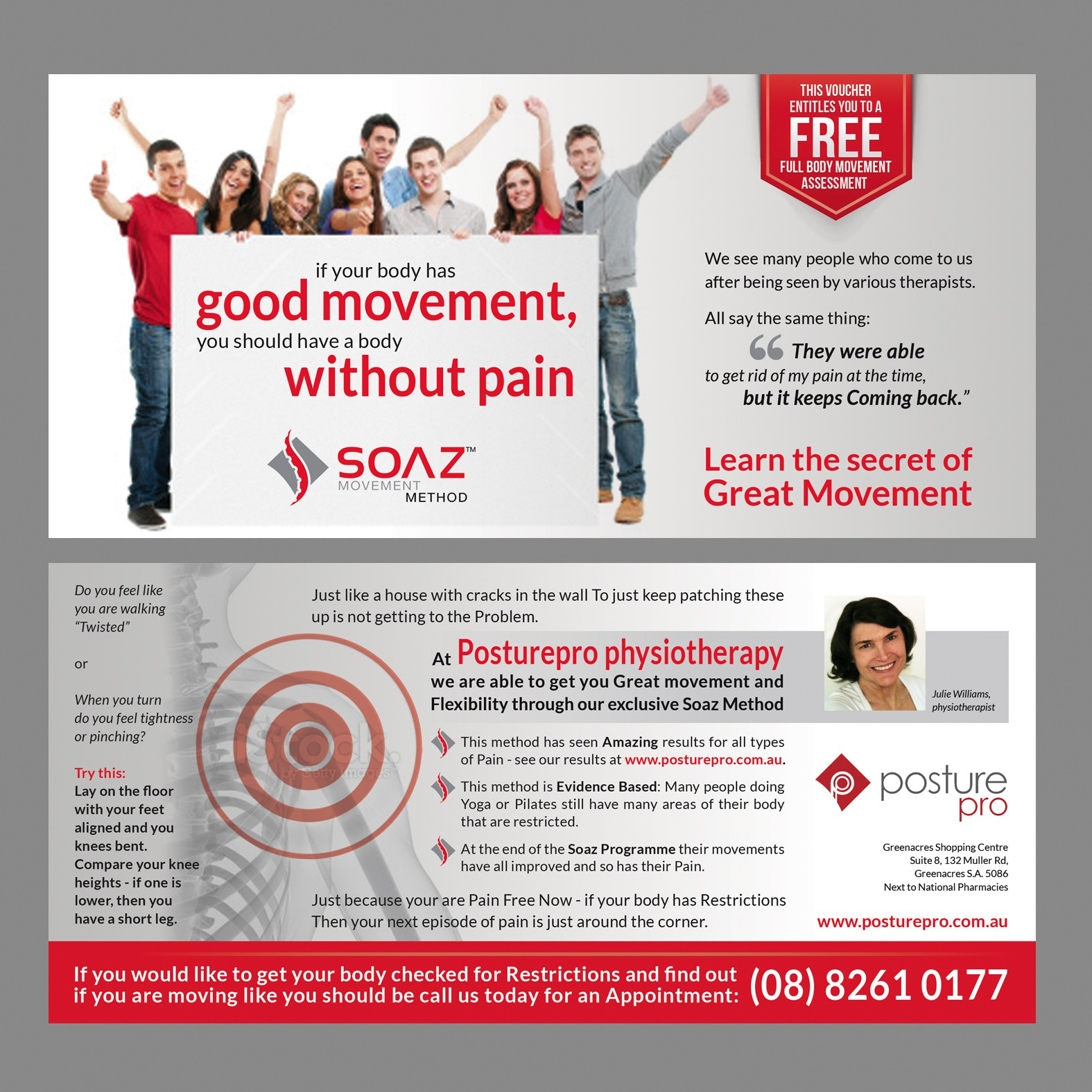 New postcard, flyer or print wanted for Posturepro physiotherapy